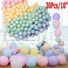 "30Pcs Pastel Latex Balloons 10"" Assorted Macaron Candy Colored Party For Weddin"