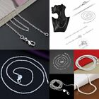 Wholesale 925 Silver Snake Chain Women Men Fashion Necklace 16-24inch Jewelry