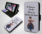 Disney Mary Poppins Spoonful Of Gin Quote Lady New Leather Flip Phone Case Cover