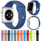 For Apple Watch Series 3/2/1 Replacement Silicone Sports iWatch Band Strap 42/38 image