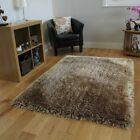 Luxurious Fashionable Thick Ultra Soft High End Opulent Cream Shaggy Rug - 4'...