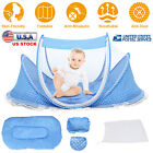 Foldable Infant Baby Mosquito Net Tent Travel Instant Crib Mattress Bed Pillow image