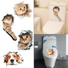 Washroom Toilet Cut Cat Wall Stickers Bathroom Removable Decals Home Decor