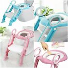 Kids Toddler Toilet Chair Potty Training Seat with Non-slip Step Stool Ladder US image