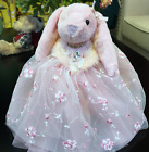 Soft New Rabbit Plush Doll Lace Dress For Bridesmaid Wedding Flower Girl Gifts