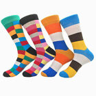 Mens Combed Alien Striped Cotton Socks Animal Floral Novelty Long Stockings #C