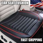 Black Car Full Surround Seat Cover PU Bamboo Charcoal Breathable Cushion Pad US