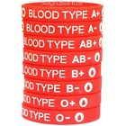 1 Blood Type Silicone Wristband Bracelet - Pick from A+ A- B+ B- AB+ AB- O+ O-