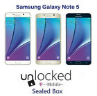 Sealed Samsung Galaxy Note 5 N920T 32GB T-Mobile Unlocked Android Smartphone