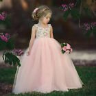 Toddler Kids Baby Girl Flower Dress Lace Tulle Party Bridesmaid Pageant Dress US