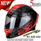 Scorpion Exo R1 Air Ogi  Black Red Motorcycle Racing Helmet│Full Face│All Sizes
