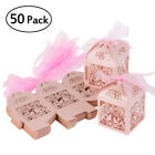 100Pcs/set Wedding Favors and Gifts for guests Party Mariage Candy Boxes Decor