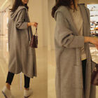Oversized Womens Long Sleeve Knitted Cardigan Sweater Casual Outwear Coat Jacket