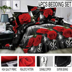 3D Bedding Set Quilt Duvet Cover Bed Sheet Pillowcases Bedroom Twin Queen King