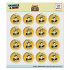 Beer Double Your Vision Fun Funny Humor Puffy Bubble Scrapbooking Sticker Set