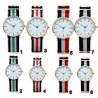 Multi-color Nylon Fabric Canvas Watch Band Mens Analog Watch Wrist Watches NRW image