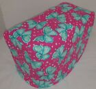 Custom Teal Pink Butterflies Matching Covers for Kitchen Countertop Appliances