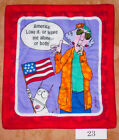 """Pick 1 or 7  """" Patriotic Maxine"""" Handmade-Quilted-Insulated-Hot Pad"""