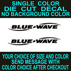 2x- Blue Wave Boats Die Cut Vinyl Decal Truck Boat Cooler Sticker Reproduction