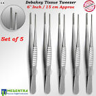 Thumb Forceps DeBakey Atraumatic Tweezers Vascular Tissue Dissection Pliers Sets