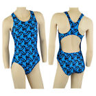 ACCLAIM Seychelles Ladies Girls Racer Back Swimming Lined Costume Atlantic Print