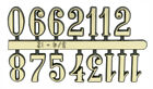 Arabic Gold Clock Numerals - Numbers 1-12 - Stick On - Choose From 7 Sizes