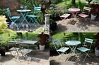 Grey Metal Bistro Set Garden Furniture Table And Four Chairs Patio Alfresco Teal