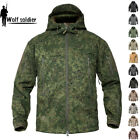 PLY Soft Shell Jacket Shark skin Army Waterproof Outdoor Coat Hooded Camouflage