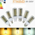 B22/E17E27 140 SMD 5736 LED 18W Corn Lights PC Cover Light Bulb Lamp AC85-265V
