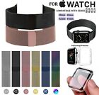 For Series 1-4 Apple Watch Stainless Steel Metal Milanese Band | Protector Case image