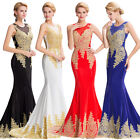 VINTAGE 50s Long Bridesmaid Formal Ball Gown Party Wedding Evening Prom Dresses