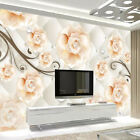 Custom 3D Wall Mural Wallpaper Modern Fashion Jewelry Flowers Soft Pack Living