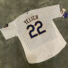 Mens Milwaukee Brewers 22 Christian Yelich White Flex Base Jersey