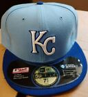 New Era MLB Kansas City Royals Game AC On Field 59Fifty Fitted Light Blue Cap