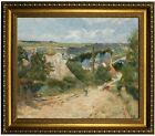 Gauguin Entrance to the Village of Osny 1882 Framed Canvas Print Repro 20x24