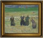 Gauguin Women Bathing 1885 Framed Canvas Print Repro 20x24