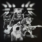 Funny Cat T Shirt Rock and Roll Kitty Band Mens Sizes Small to 6XL and Tall image
