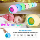 7 Color LED Change Digital Glowing Alarm Clock Night Light for Bedroom Child ACE