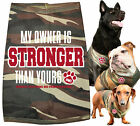 Monsta Clothing My Owner Is Stronger Than Yours Camo Dog Shirt (Green) For Pets