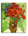 Red Poppies and Daisies- Vincent Van Gogh, Art Reproduction. Giclee Canvas Print