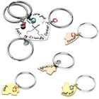 4pcs Set Heart Puzzle Best Friends Forever & Ever Keychain Keyrings FriendshipAY