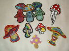 MAGIC MUSHROOM IRON ON PATCHES hippie Psychedelic see hear speak no evil patch