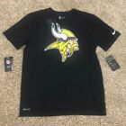New Nike Minnesota Vikings Men's Essential Black Dri-Fit T-Shirt! M, L,XL! NWT!