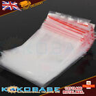 Grip Seal Bags Self Press Resealable Clear Plastic Zip Lock 100 Pack Food Saf