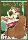 Decor Poster.Home design.Room decoration.Drinking beer.French Art Nouveau.6973