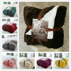 150*200 Plush Sherpa Fleece Blanket Luxury Warm Home Sofa Bed Throw 40 Colors