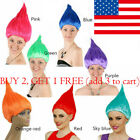 Troll Girl Style Party Festival Colourful Elf/Pixie Cartoon Wig Characters New T image