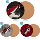 Arizona Coyotes Wood Coffee Coaster Cup Mug Mat Pad Table Decor $3.49 USD on eBay