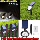 Solar Power 9-LED Spotlight Landscape Dual Lights Color Change Outdoor Garden US