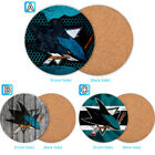 San Jose Sharks Wood Coaster Cup Mat Coffee Drink Mug Pad $4.69 USD on eBay